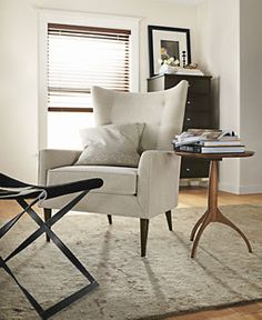 Louis Chair & Ottoman in Vick Fabric - Chairs - Living - Room & Board