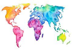 World Map Custom Made Print 8 x 10 by MisstateMaker on Etsy