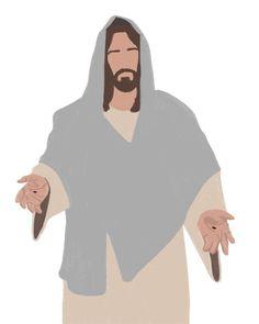 Jesus Art, God Jesus, Jesus Christ Drawing, Jesus Drawings, Image Jesus, Jesus Wallpaper, Pictures Of Jesus Christ, Lds Art, Bible Illustrations