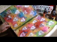 New Art Journal Pages - Used Dylusions Inks - YouTube