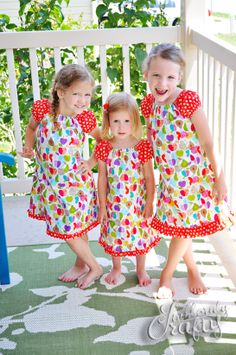 Dresses for little girls by Stubbornly Crafty.