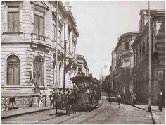 Inicio do Viaduto do Chá e Rua Direita Ano: 1895 Autor: Guilherme Gaensly