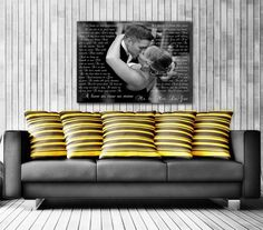 Fun Idea For Vows 10 Year Photo Anniversary Gift Custom Canvas Print With GiftsAnniversary Photos10th Wedding