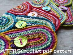 Crochet Patrón caso por ATERGcrochet por ATERGcrochet en Etsy