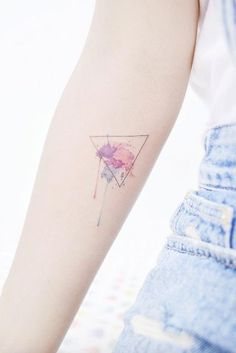 Watercolor triangle tattoo by Banul