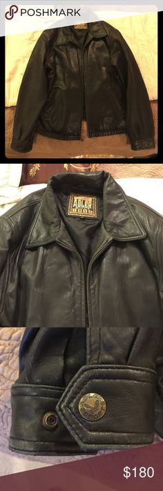 Vintage Adler Men's XL Leather Jacket Great item had for many years haven't worn it in a while. Great condition looks brand new. 10/10 used condition. Willing to trade and negotiate! Adler Jackets & Coats Military & Field