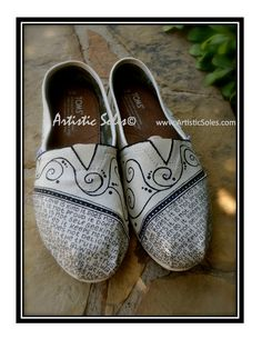 What is Love Custom TOMS Shoes II - Ivory and Black. $125.00, via Etsy.
