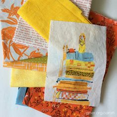 """WIP Wednesday: My Favorite Color Palette – Sarah Goer Quilts"" -- what a fantastic fabric pull!"