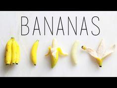 Bananas : Polymer Clay Fruit Tutorial : Miniature DIY - YouTube