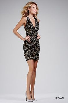 Short Black Fitted Dress 23182