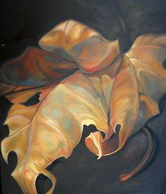 oil painting - I love the shading, shadows and twisting of the leaves