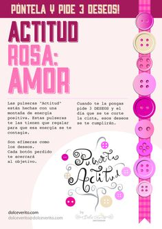Actitud Rosa  Amor by DolceVerito on Etsy, $5.30