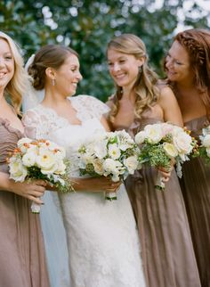 Strapless Taupe Bridesmaids Dresses