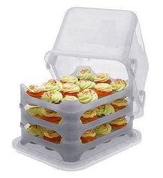 The clear Plastic Cake and Cupcake Carrier is a great option for transporting your freshly baked cake or cupcakes to the party! // A little pricey at $34 but if you're serious about cupcakes, it may be worth the cost.