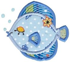 Decorative Sea Creatures Applique 5 - 2 Sizes! | What's New | Machine Embroidery Designs | SWAKembroidery.com Bunnycup Embroidery