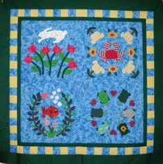 Outer Banks Bunny Quilt Pattern by Curlicue by CurlicueCreations, $8.00