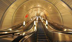 "Ekaterinburg. Metro. ""Geologicheskaya"" station. Opened December 30, 2002."