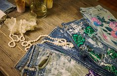 Everything's coming up roses (cherry blossoms, too!) Read the story of Rialto Jean Project at Preserve.us and shop our NEW exclusive hand-painted jeans (co-designed by Blake) by going to the site. #preservestyle
