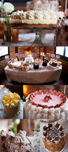 Non-Traditional Wedding Cakes. These wedding cakes were amazing!!! I love the idea of having so much variety. They were so pretty and yummy!!