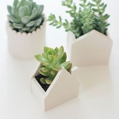 Make these cute handmade clay pots with this tutorial from Say Yes to Hoboken.