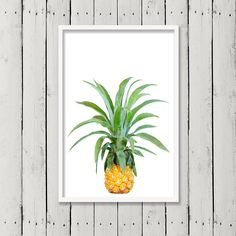 Ananas-Print, tropischen Wand Kunst, botanische Print, Küche Obst, Kunst-Wand-Dekor, druckbare digitale Download, minimalistische Poster