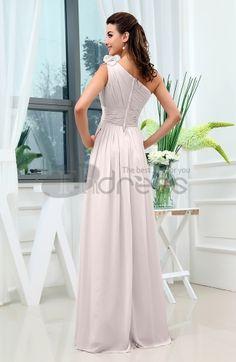 A-line One Shoulder Sleeveless Zipper Sash Cocktail Dresses