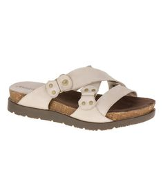 Love this Feather Gray Joni Leather Sandal on #zulily! #zulilyfinds