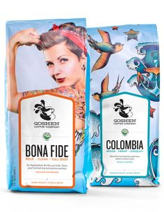 Goshen Coffee   Packaging of the World: Creative Package Design Archive and Gallery
