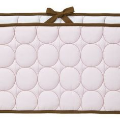 Bacati Quilted Bumper Pad - PinkChocolate