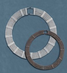 Wrapped aluminum and copper  concentric neck rings, Akamba , Kenya (archives sold Singkiang)