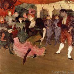 Henri de Toulouse-Lautrec - Marcelle Lender dancing the Bolero in 'Chilperic', 1895