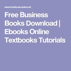 Free Business Books Download | Ebooks Online Textbooks Tutorials