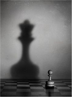 Shadow is used in this photo to make the small chess piece look larger. Object Photography, Shadow Photography, Conceptual Photography, Still Life Photography, Artistic Photography, Creative Photography, Photography Books, Photography Lighting, Photography Portfolio