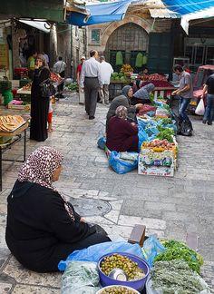 Street Market in Jerusalem.
