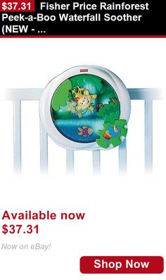Crib Toys: Fisher Price Rainforest Peek-A-Boo Waterfall Soother (New - Free Shipping) BUY IT NOW ONLY: $37.31