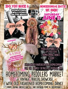 HOMECOMING PEDDLERS MARKET, OLD FASHIONED HOMECOMING DANCE AND VINTAGE TRAILER SHOWCASE - JUNE 11 - WILLS POINT, TEXAS ON THE BRICKS #willspointpulse
