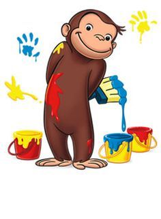 Curious George is one of the most iconic and memorable picture book characters. Children can easily relate to him because of all of the trouble he gets into. He really mimics a child, making him an ideal icon in the picture book world. Curious George Party, Curious George Birthday, Curious George Cartoon, 1st Boy Birthday, 3rd Birthday Parties, Curious George Characters, Curious George Coloring Pages, Birthday Clipart, Love Painting