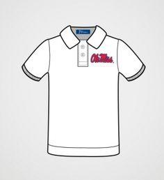 Ole Miss Boys' White Polo Shirt | JV Clothiers