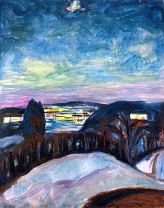 Starry Night - Edvard Munch - 1922-1924