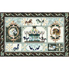 Hoffman Fabrics Bali Batik Noir Promenade Quilt Kit 80.5 by 51.5