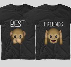 2 Monkeys  Cele mai bune prietene din lume trebuie sa aiba si tricouri cu emoticoane haioase ca acestea. Daca si tu simti ca veti fi prietene pentru totdeauna, atunci mesajul vi potriveste.  Daca tu si cea mai buna prietena vreti sa aveti tricouri personalizate, cu mesaje haioase, ai ajuns unde trebuie! Bff, Best Friends, Sweatshirts, Sweaters, T Shirt, Fictional Characters, Tops, Women, Fashion