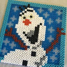 Olaf Frozen perler beads by sase2010