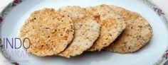 Kroepoek Nasi Teri - Rice crackers with salty dried fish
