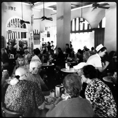 Was hard to decide to pin this it great places & spaces or Food Porn. Cafe du Monde in NOLA....World famous for its cafe' au lait, beignets, and the opportunity to people watch.