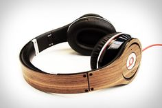 Crafted from real wood, the sticker adds a cherry or walnut finish to the outside of the headphones, and can be removed without killing the original paint job