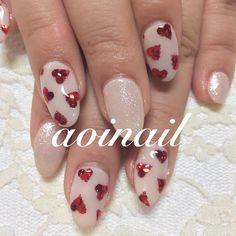 いいね!185件、コメント1件 ― aoiさん(@aoinail)のInstagramアカウント: 「#nail #nails #nailart #ネイル #♡ #ハート #love #バレンタイン #大人可愛い #art #japan #tokyo #目黒 #代官山 #恵比寿 ❤️❤️❤️❤️❤️」