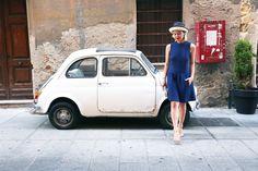 Chicca Lualdi dress, Panizza hat