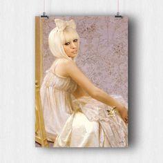 Lady G - Affiche - Poster - Tableau - Vintage - A3