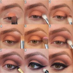 Learning Makeup with makeup artist Brittany - Warm Smokey Eye Steps