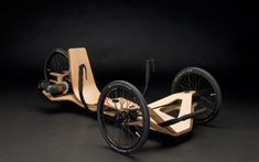 Rennholz - a stunning curved plywood go-kart powered by a Bosch cordless screwdriver!